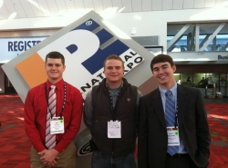 Eric Phelps, Tyler Rench, and Scott Benjamin at the 2013 International Poultry E