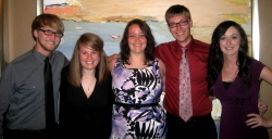 From left are EKU team members Dylan Lakes, Cynthiana; Catherine Thompson, Versa
