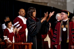 First Lady Michelle Obama Addresses Graduates at Spring Commencement